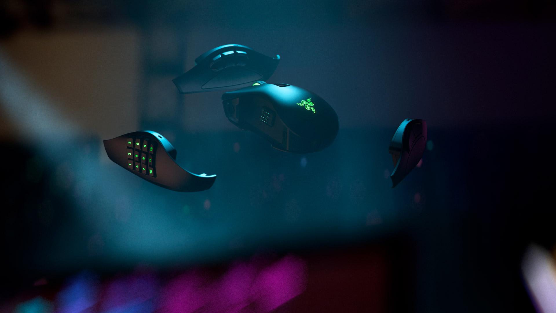 Беспроводная игровая мышь с тремя сменными панелями