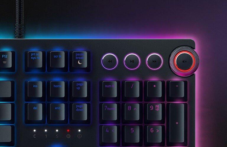Цифровой блок управления Razer Huntsman Elite c дополнительными функциями