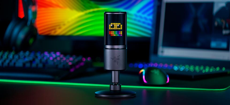 Стримерский микрофон с восьмибитным LED-дисплеем