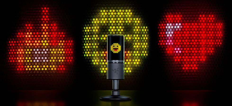 Микрофон для стримов с выводом восьмибитных эмотиконов